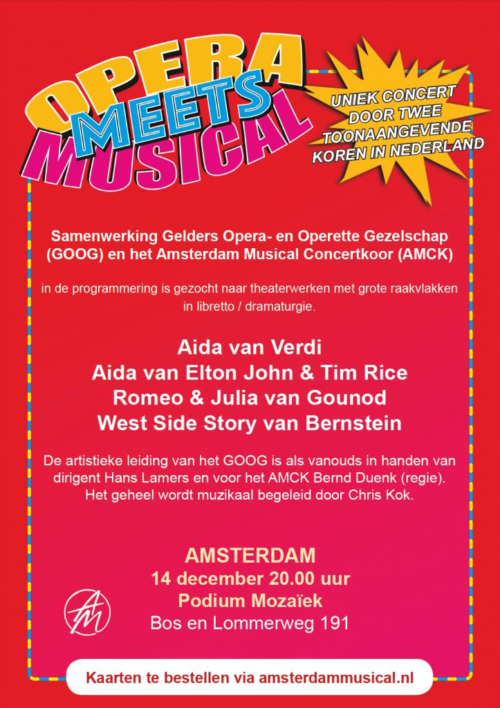 Flyer Opera meets Musical (achterzijde)