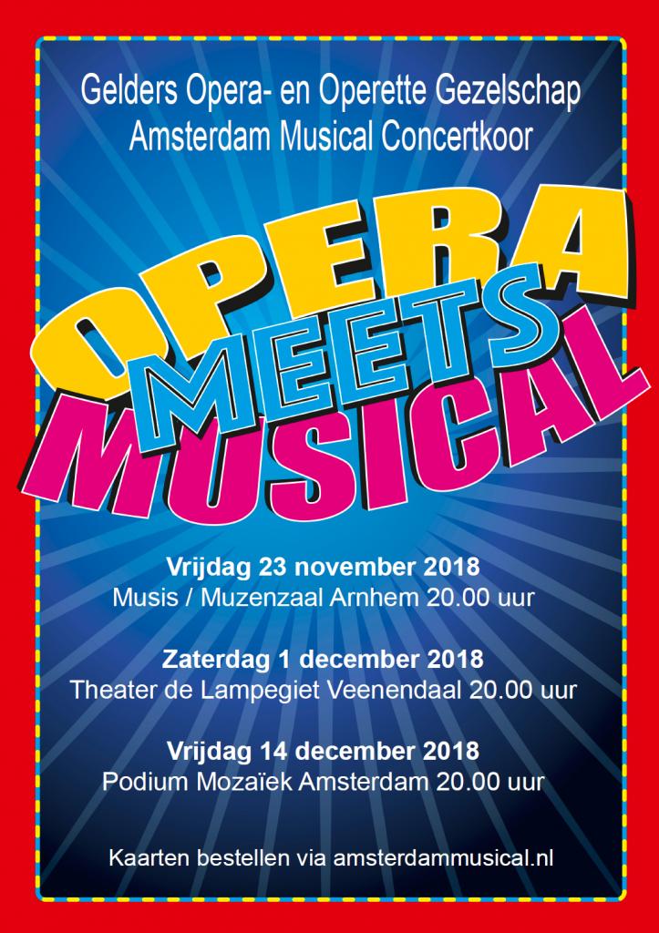 Flyer Opera meets Musical (voorzijde)